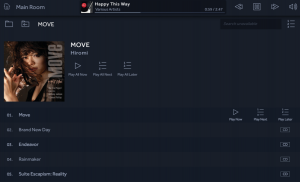 アルバムを選択か、1曲選択か